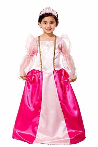 Magicoo Märchenhaftes Prinzessin Kostüm Kinder Pink - Prinzessinnenkleid Mädchen Rosa - Prinzessin Kostüm Mädchen (134)