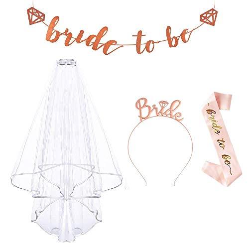 LATERN Deko Accessoires für Junggesellinnenabschied Dekorationen, Bride Schärpe, Braut Stirnband und Braut zu Sein Banner
