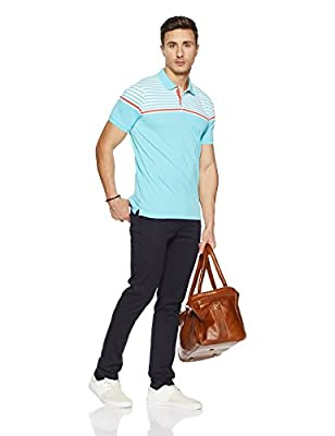 Peter England Men's Plain Slim Fit Polo
