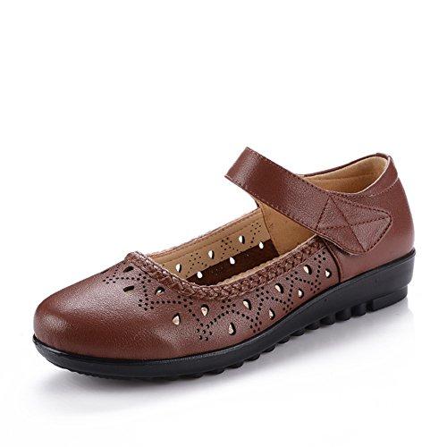 Mère sandales en été/Trous percés glisser vieilles chaussures/Chaussures de fond mou pour les personnes âgées B