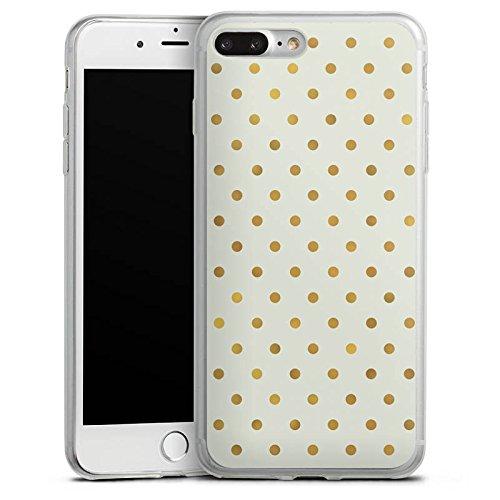 Apple iPhone X Slim Case Silikon Hülle Schutzhülle Pünktchen Punkte Gold Silikon Slim Case transparent