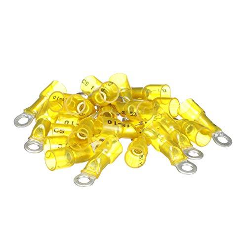 Seachoice 50-60071Anschluss flach Ring verschrumpft, gelb, 3,31-5,26mm2Ösen, 9,5mm -