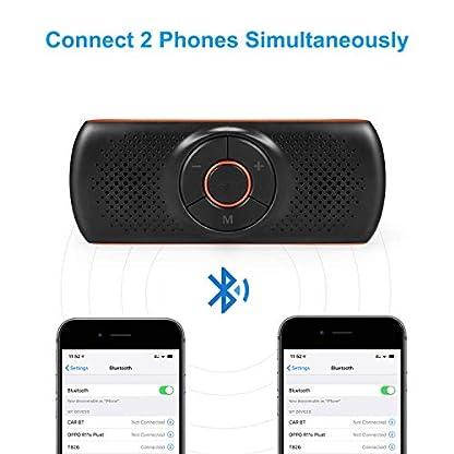 Aigoss-Kfz-Bluetooth-42-Freisprecheinrichtung-mit-Siri-und-Google-Assistant-Kabelloser-Lautsprecher-fr-Visier-2-Telefone-Gleichzeitig