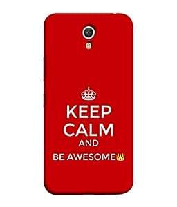 PrintVisa Designer Back Case Cover for Lenovo Zuk Z1 (keep calm and be awesome)