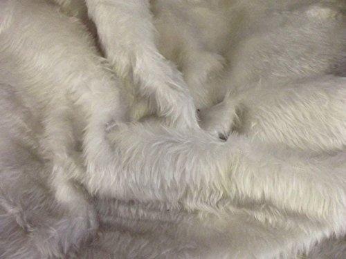 short-plush-care-bear-faux-fur-fabric-material-new-silver