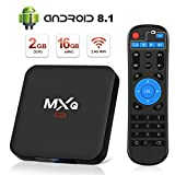 Android 8.1 TV Box 4K Boîtier TV [2019 Dernière Version] SUPERPOW Android 8.1 Smart TV, Android Box avec HD/H.265 / 4K / 3D 2GB RAM+16GB ROM (new mxq)