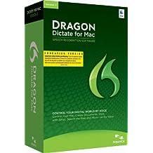 Nuance Dragon Dictate for Mac 3.0, EDU - Software de reconocimiento de voz (EDU Dragon Dictate, 4096 MB, 2048 MB, Intel, ENG, Education (EDU))