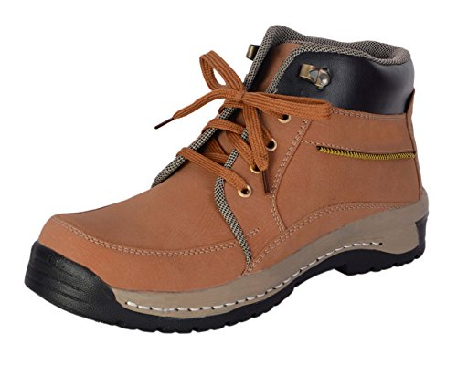 George Adam Men'S Tan Synthetic Leather Casual Boots Size: 8