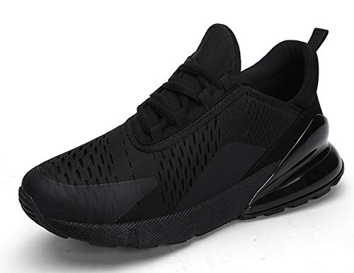 GNEDIAE Uomo Max 270 a Collo Basso Scarpe Sportive Scarpe da Corsa Ginnastica Respirabile Mesh Running Sneakers Fitness Casual Nero 40 EU
