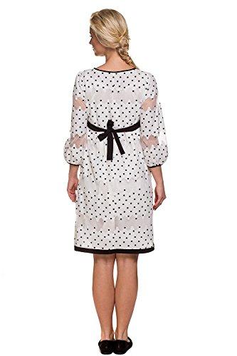 My Tummy Mutterschafts Kleid Umstands Kleid Amelia mit Spitze Polka Dot Elegant Hochzeit - 5