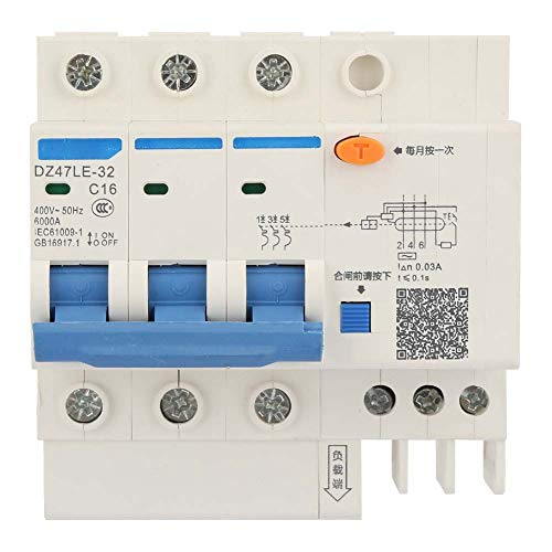 Leistungsschalter, DZ47LE-32 3P + N 400V Fehlerstromschutzschalter(C16 16A) Ideal Circuit Tracer