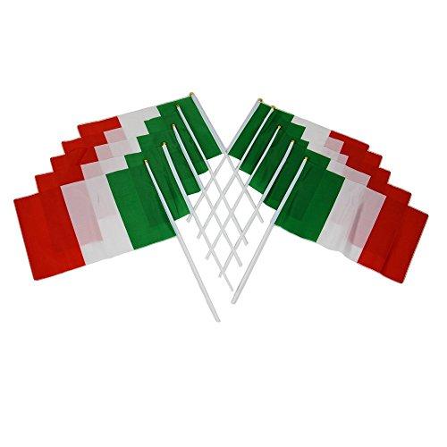 **In svendita Euro 614,48 Meters per uso a mano, palla Inghilterra Francia/Italia Germania Spagna Flags Party-Bandiera da tavolo, confezione da 10