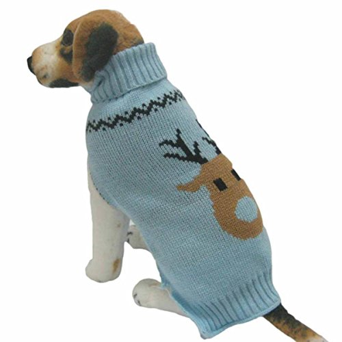 Culater® Cane Vestiti Invernali Maglione Di Lana Di Maglieria Indumenti Pet Cucciolo (M, cielo blu)