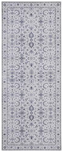 Nouristan Orientalischer Vintage Teppich Vivana Platingrau, 80x200 cm