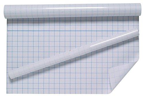 Nachricht beigelegt werden Stil, selbstklebend, klar, Sticky Back Kunststoff Film Grid Schulhefte 33cm x 3m