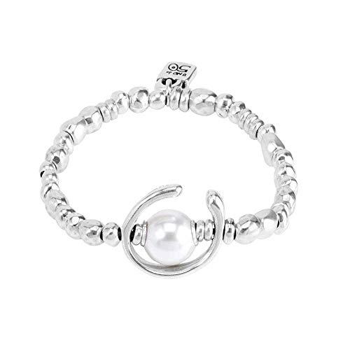 Imagen de uno de 50 mujer chapado en plata blanco perla