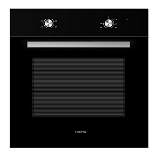 41qojdLkhgL. SS500  - electriQ 70 litre 6 Function Built in Static Single Oven in Black - Supplied with a plug