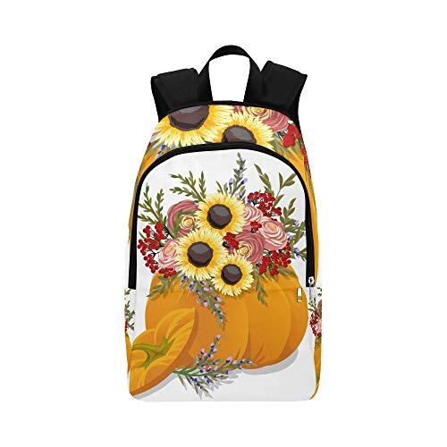 Verschiedene Arten von Kürbis lässig Daypack Reisetasche College School Rucksack für Herren und Frauen
