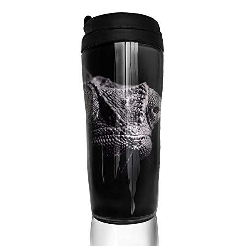 Jxrodekz Reise-Kaffeetasse Gecko-Bild Isolierte Kaffeetasse mit Deckel umweltfreundlich