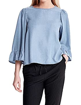 Only Onlhaley Big Sleeve Frill Dnm Top Qyt, Blusa Para Mujer