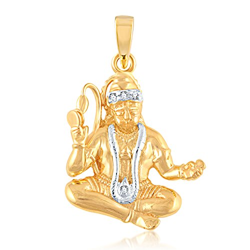 V. K. Jewels Lord Hanuman Gold and Rhodium Plated Alloy God Pendant...