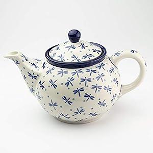 Polish Pottery Medium Teapot Dragonfly