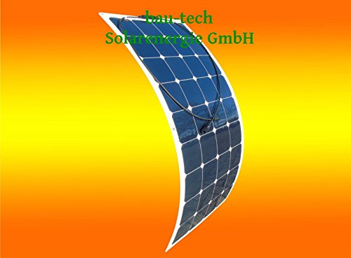 Flexibles Solarmodul Solarpanel 130Watt 12Volt Mono semi flex von bau-tech Solarenergie GmbH 130w Solarpanel
