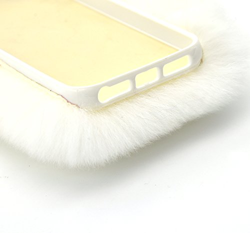 Vandot TPU bumper Coque pour iPhone 6 6S Souple Coque de Protection Premium Flexible Soft TPU Housse iPhone 6 6S Ultra Fine en Gel Flex TPU Premium Flexible et Souple Etui iPhone 6 6S 4.7 Pouces Houss lapin cheveux-blanc
