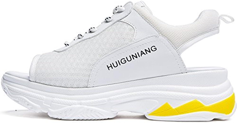 SOHOEOS Sandalias para Mujer Señoras verano joven estudiante nuevo Zapato abierto de alta cuña Plataforma Mule... -