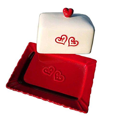 Vintage Design Decorative Butter Dish Conteneur à fromage avec couvercle Creative Gift for Housewarming, D
