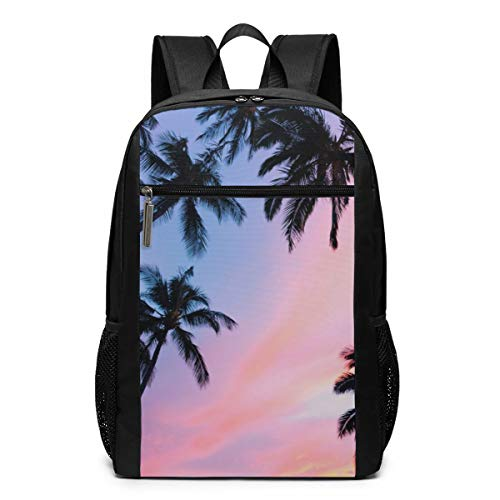 Palme Leaf Sunset School College Backpack Fashion Computer Backpack Casual Daypack Laptop Bag Lightweight Business Bag -