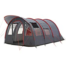 Justcamp Atlanta 5 Familienzelt für 5 Personen mit Vordach (inkl. eingenähtem Boden) - grau