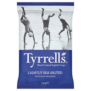 (LOT DE 12) - Tyrrells - Lightly Salted Crisps TYR-LIG150G   150g   LOT DE 12