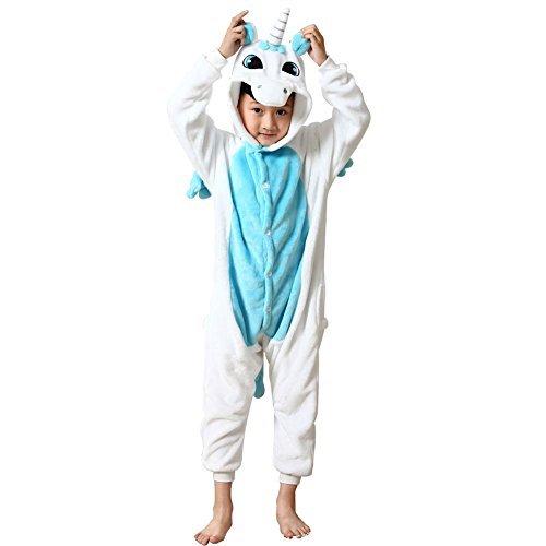 LATH.PIN Kinder Unisex Jumpsuits One-Suit Einteiler Schlafanzug Fasching Halloween Karneval Tierkomstüme (Pikachu Kostüme Mädchen)