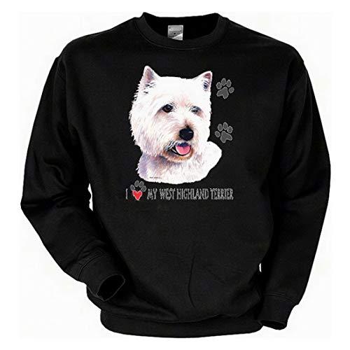 Art & Detail Shirt Hunde West Highland Terrier Sweatshirt Fb schwarz West Highland Terrier Sweatshirt