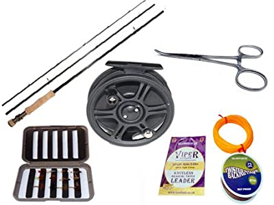 Complete Carbon Fly Fishing Starter or Travel Set from Jackal Outdoors Ltd