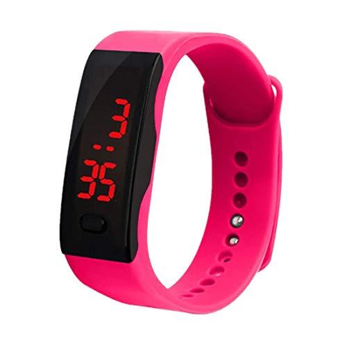 NEEKY Damen Sportuhren Fitnessarmband mit, Armband, Silikon Stoppuhren,LED Digitalanzeige Armbanduhr Sportuhren Herren Fitness Silikagel