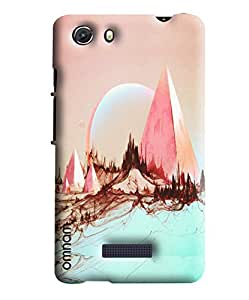 Omnam Mountain Art Printed Designer Back Cover Case For Micromax Unite 3