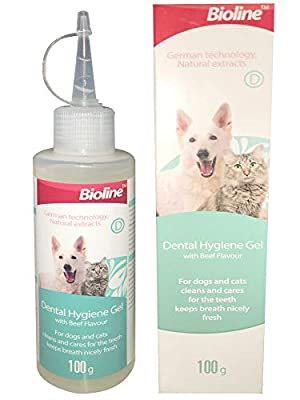 Dental Hygiene Gel For Dogs & Cats | Freshens Breath, Cleans Gums & Keeps Teeth Healthy | Flights Bad Breath, Plaque & Tartar | Beef Flavour 100g from PetSol