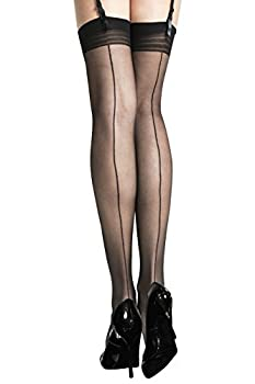 Fiore Bas nylon à couture 20 deniers pour Porte-Jarretelles