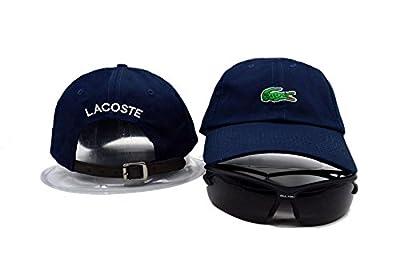 Unisex LACOSTE justierbare Hip Hop Sport Fans Hut Hysteresen Baseballmütze (dunkelblau )