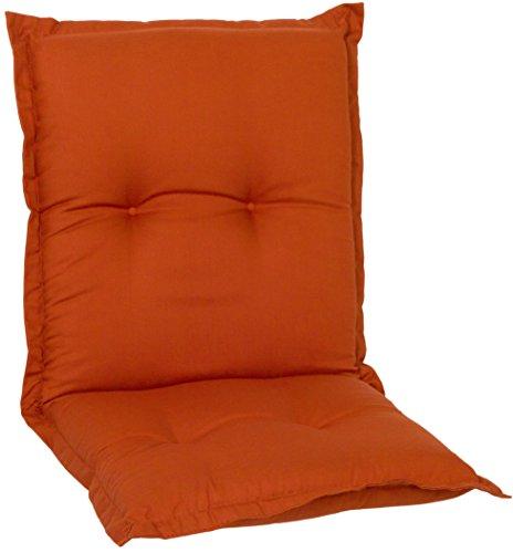 Gartenstuhlauflage Sitzkissen Polster Stuhlkissen für Niedriglehner in Terra Premium Bezug aus 100%...