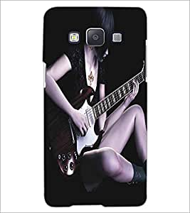 SAMSUNG GALAXY E5 GUITAR GIRL Designer Back Cover Case By PRINTSWAG