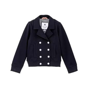 Petit Bateau - Manteaux, vestes et blousons - Blouson fille bleu marine esprit caban - Bleu marine - 4 ans