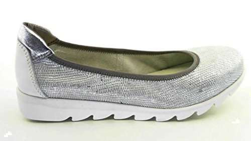 The Flexx, On the Track, Damen-Ballerina, b109-04, weiß/silber, weiß (white/silber)