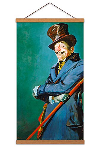 LUKS Actor Otis Skinner As Philippe Bridau Painting Actor Canvas Wall Art Print Poster Magnetic Hanger Clip Frame 24x12 Inch Malerei Wand -
