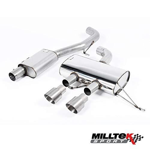 MILLTEK - Opel Corsa 1.6 16V Turbo - 180ch - Ligne Complète Race 70 mm - avec Catalyseur Sport Hi-Flow - Sortie Triangle