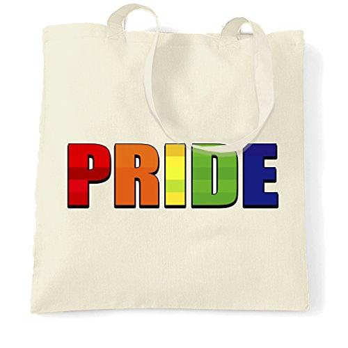 Gay Pride LGBT Uomo Donna Stampa Supporto alla progettazione Marcia della Pace Event Sacchetto Di Tote Natural