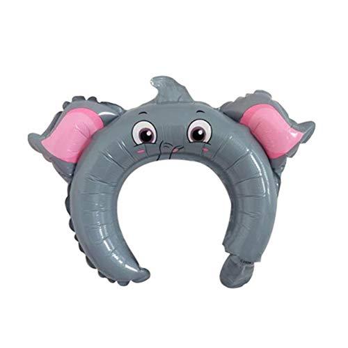 Amosfun 20 Stück süßes Stirnband Folienballons Elefant Stirnband Luftballons für Babyparty Geburtstag Party Gastgeschenke Zubehör Deko Kinder Haarzubehör