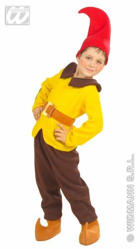 Kostüm Zwerg gelb Wichtel Kinder Gr. 110